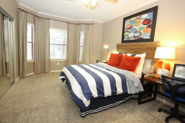 Bedroom at Lincoln Melia Medical Center Apartments in Houston